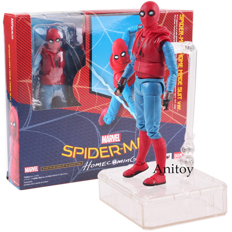 Action Figure New In Box S.H.Figuarts Spider-Man Homecoming Home Made Suit Ver