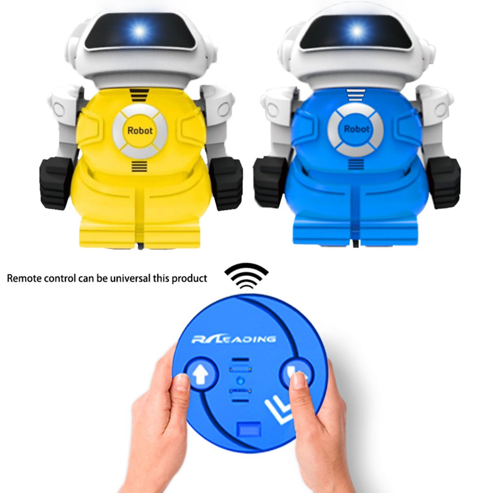 Mini Infrared Remote Control Cans Robot Led Light Singing Dancing Kids Children's Remote Control Robot DIY Modeling Talk Gifts(China)
