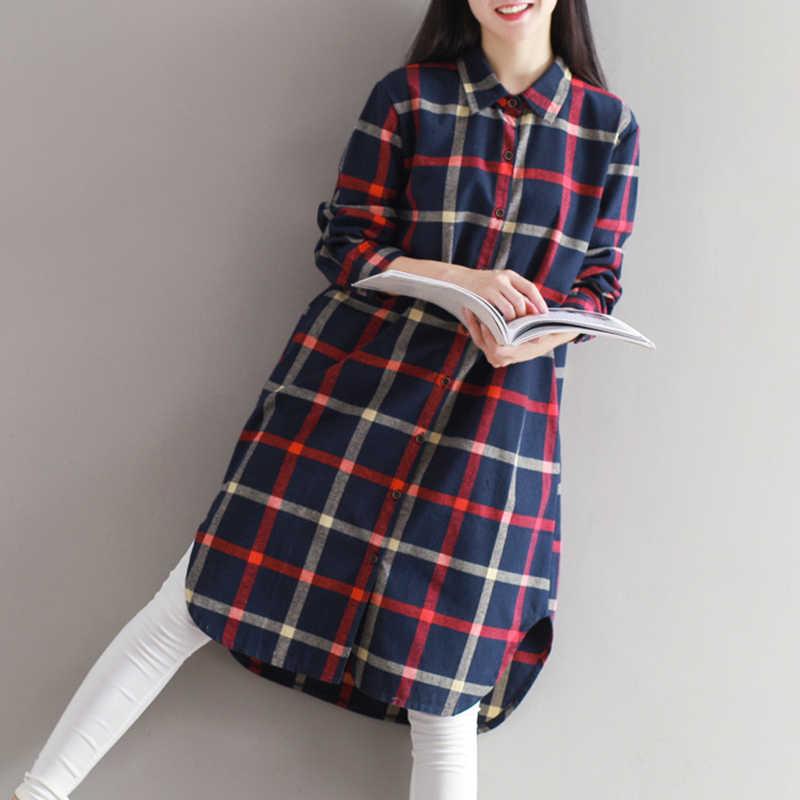 2019 vestidos mujer платье Украина реальная съемка Новая Осенняя лесная литературный Retro College Стиль большой Размеры Свободное длинное женское пальто