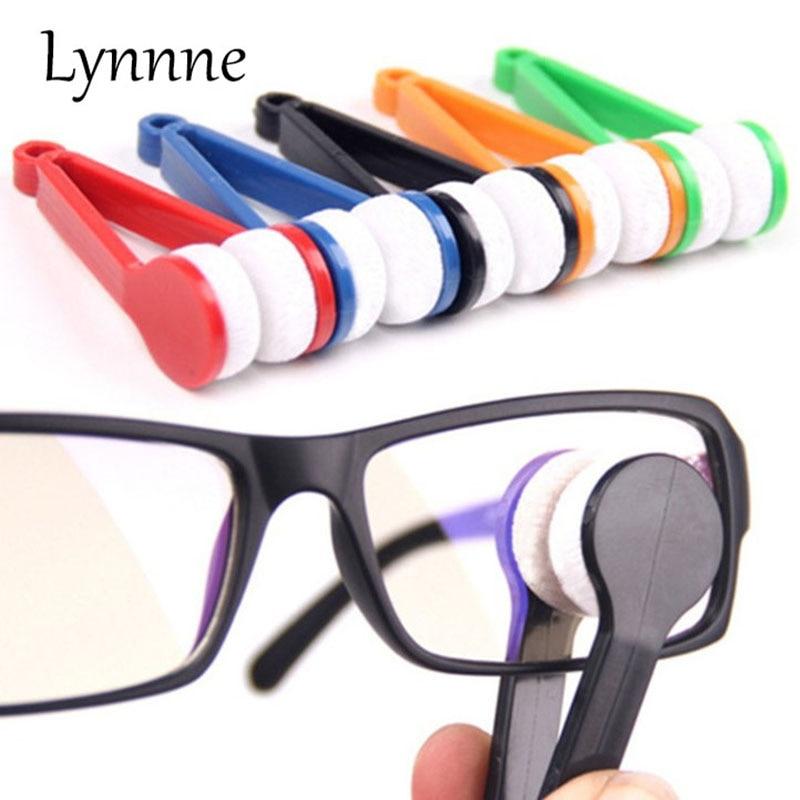 Lynnne Mini Portable Glasses Brush Microfiber font b SunGlasses b font Eyeglass Clean Brush Microfiber Brush