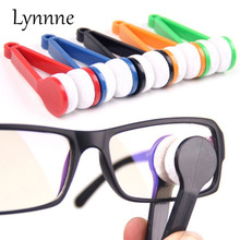 Lynnne Mini Portable Glasses Brush Microfiber SunGlasses Eyeglass Clean Brush Microfiber Brush Cleaner Cleaning Spectacles Tools