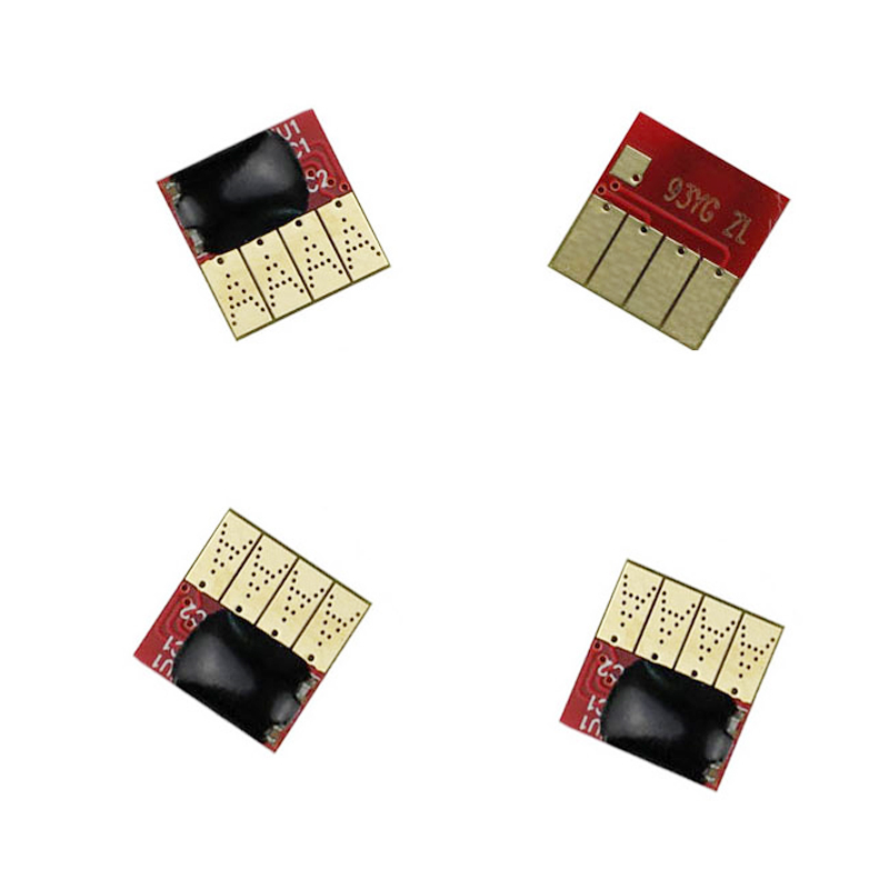 4 pcs Permanent chips For HP970 971 Auto Reset Permanent Chip For HP officejet Pro X451dn/X551dw/X476dn/X576dw Printer