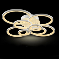 Led Ceiling Light Acrylic Lighting Round Modern Lights Led Lamp Remote Control Dimming Living Room Bed Circle Deckenleuchten