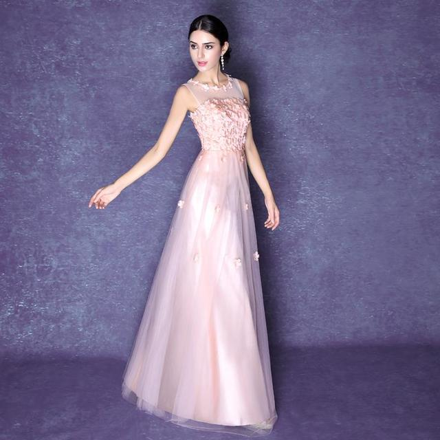 91d6bc4dc1a new 2016 fashion long light pink prom dresses sleeveless scoop organza  floor length prom dresses plus size