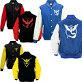 hoodies men Pokemon Go Logo Sweatshirt Team Valor Instinct Mystic Symbol Cosplay Costume Jacket Hoodie 19866 Harajuku  pullover