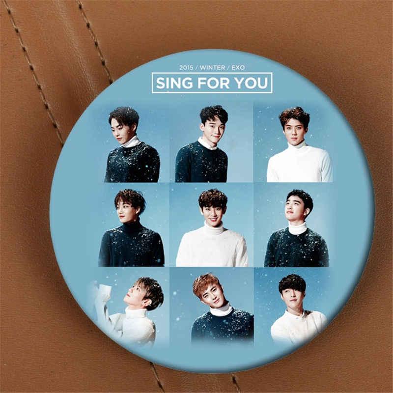 Youpop EXO EXO-K EXO-M поет для вас альбом брошь K-POP значок аксессуары для одежды шляпа украшение для рюкзака HZ1747