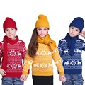 New Winter Sweater Kids Girls Boys Sweater Long Sleeve Pullovers Turtleneck Knitting Boys Sweaters Kids Christmas Sweaters