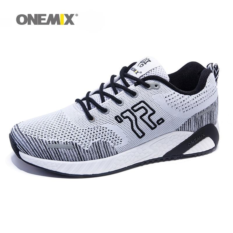 onemix 2018 Δωρεάν NO.72 RETRO Πλέξιμο flyweave Αναπνεύσιμα Ανδρικά παπούτσια Παπούτσια εξωτερικού χώρου Περπάτημα ελαφριά ανθεκτικά Slip