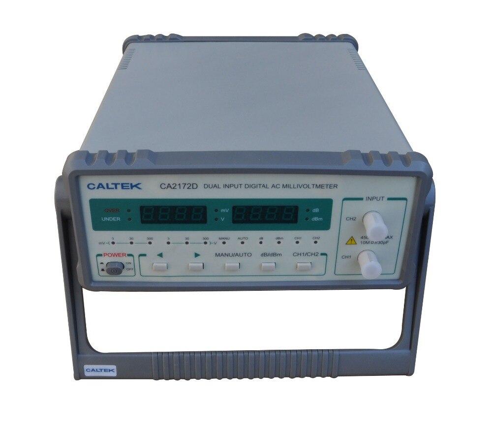 Yangzhong Caltek CA2172D double channel input AC digital voltmeter 100uV 300V, frequency range is 10Hz 2MHz