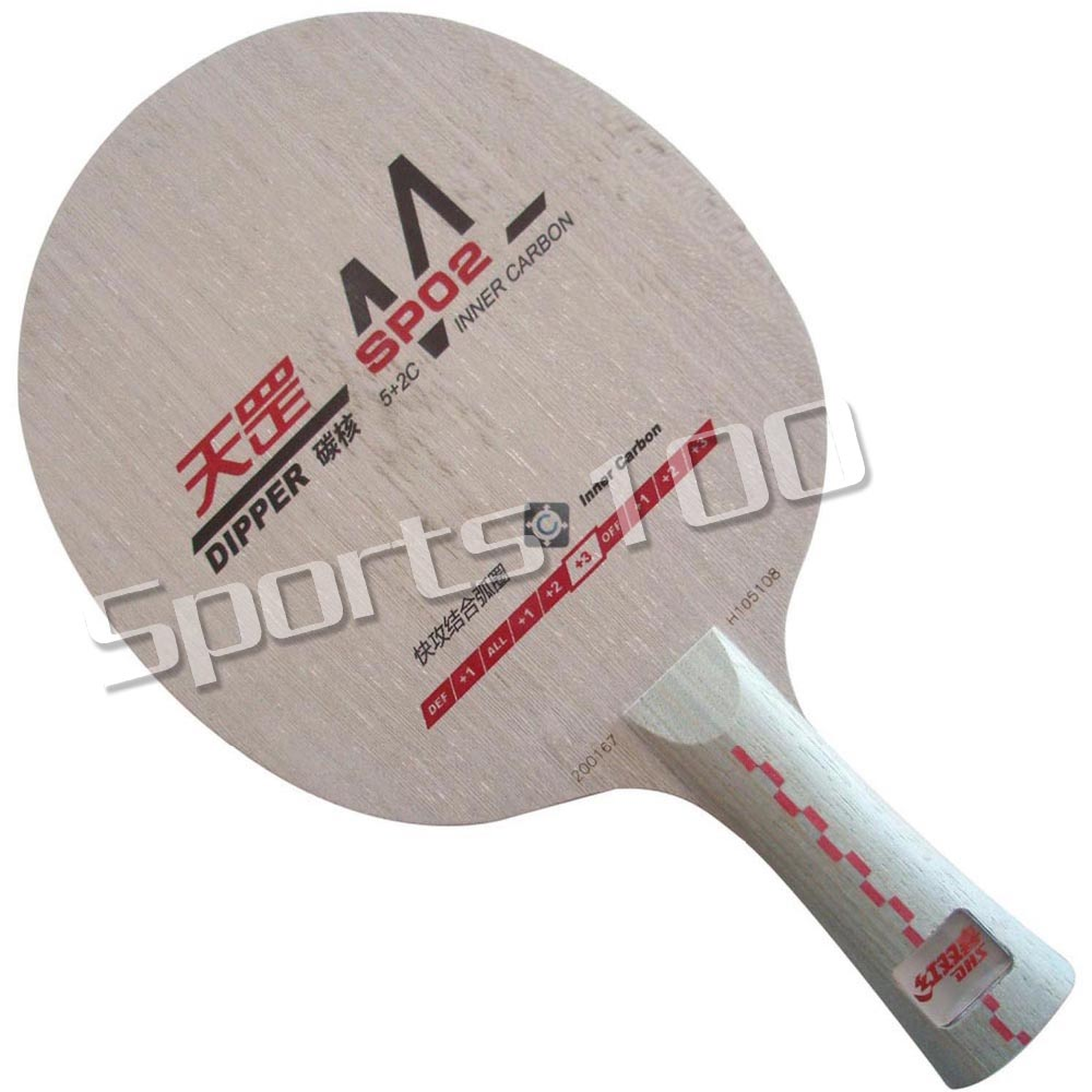 DHS Dipper DM SP02 (SP 02 SP-02) Shakehand Table Tennis PingPong Blade The new listing Factory Direct Selling dhs tg 506 tg506 tg 506 7 ply off table tennis pingpong blade 2015 the new listing factory direct selling