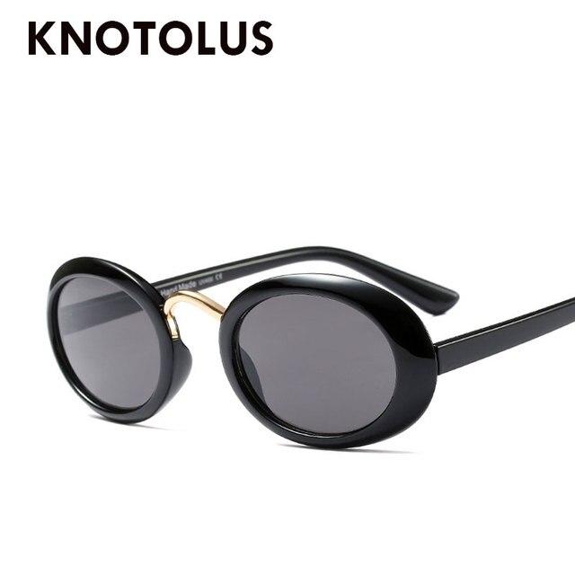 Knotolus Steampunk Fashion Oval Kacamata Hitam Pria Wanita Kecil Frame Merek  Desain Kacamata UV400 Gafas De ecf7507309