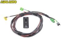 AIDUATO For VW Golf 7 MK7 CarPlay MDI USB AMI Install Plug Socket Switch Button Harness 5G0 035 222 E 5G0035222E