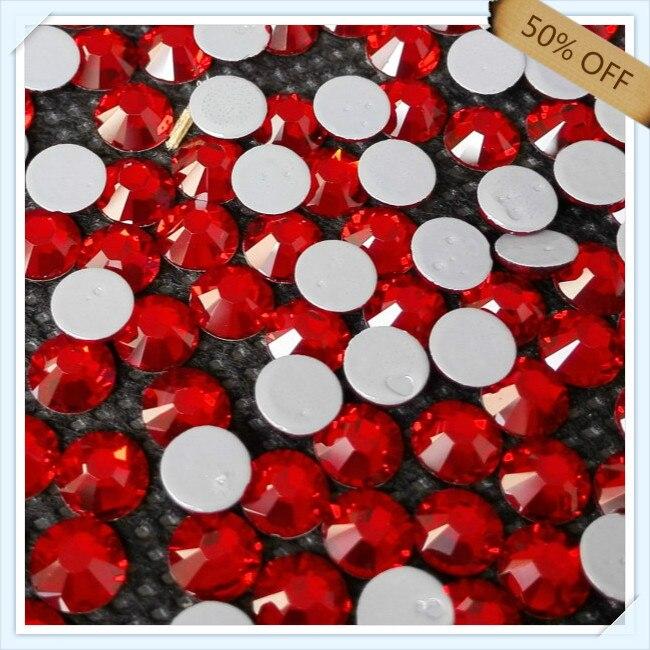 696d284b Envío Gratis 50% de descuento súper brillante para el arte del clavo tamaño  SS16 3.9mm Light Siam color con 1440 unids cada paquete; piedra de diamante