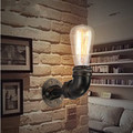 Iron Water Pipe Vintage Industrial Edison Wall Lamp Loft Wall Light Sconce for Bar Home Lighting Arandela Lampara Pared Wandlamp