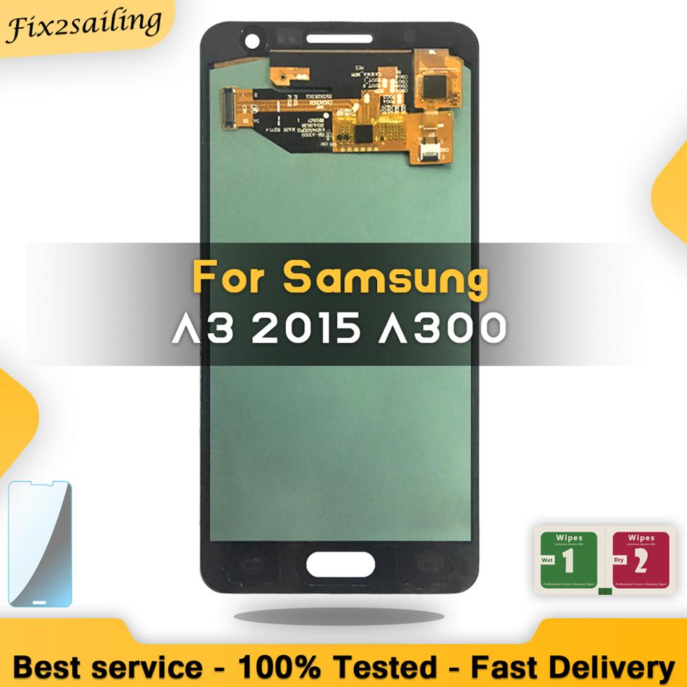 100% Tested Amoled LCD For Samsung Galaxy A3 2015 A300 A3000 Display Touch Screen Digitizer Replacement-in Mobile Phone LCD Screens from Cellphones & Telecommunications