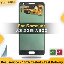 100% Tested Amoled LCD For Samsung Galaxy A3 2015 A300 A3000 Display Touch Screen Digitizer Replacement