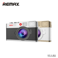 Remax RPP 31 10000mAh Portable Power Bank Camera Design External Battery Pack Universal Battery Charging Backup