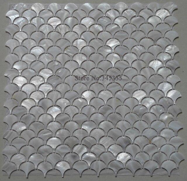 fischschuppen 11 stacke weia shell mosaik fliesen perlmutt ka 1 4 che backspalsh bad dusche wand tv hintergrund entfernen