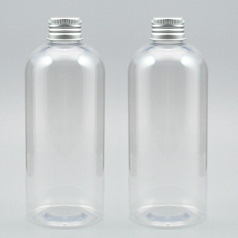 Free shipping50pcs 330ml Transparent aluminum bottle cap PET plastic bottles DIY cosmetics bottles Empty containers of