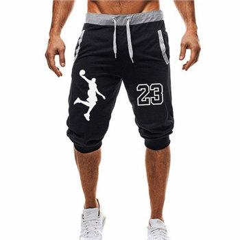 2018 lato nowe męskie szorty drukowane Casual Fashion Jogger długość kolana spodnie Man fitness sznurkiem szorty tanie i dobre opinie Mężczyzn Wzór Poliester bawełna Drukowania Marcin JANAS Połowie Regularne