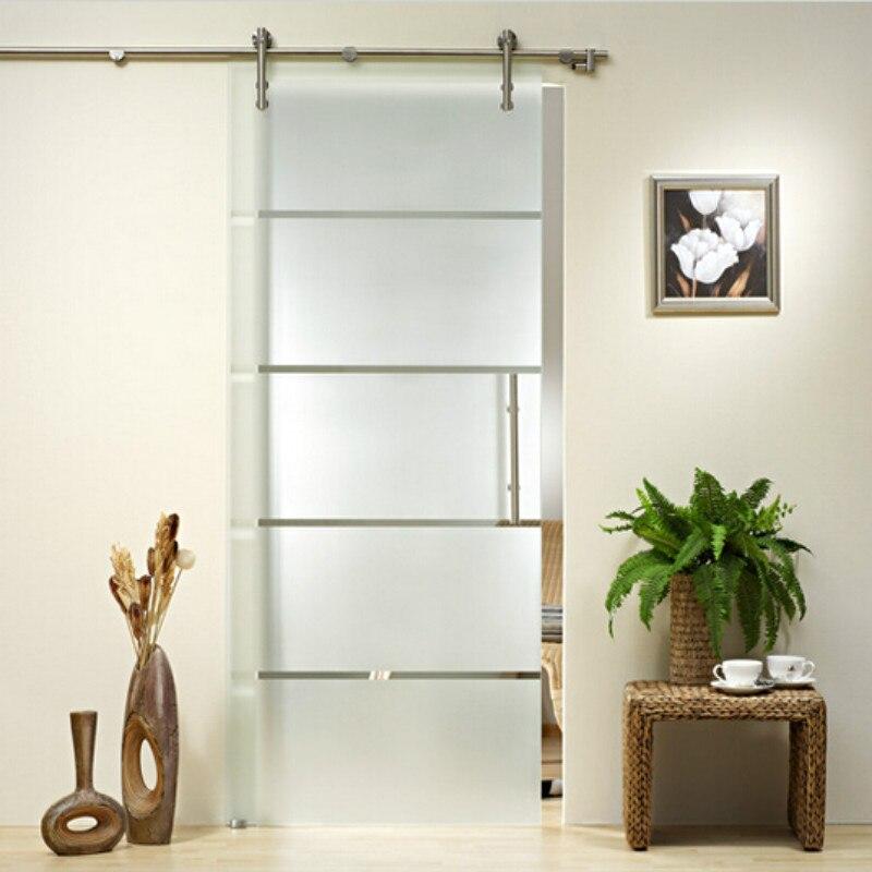 envo libre pies de acero inoxidable puerta corredera de cristal conjunto completo de hardware