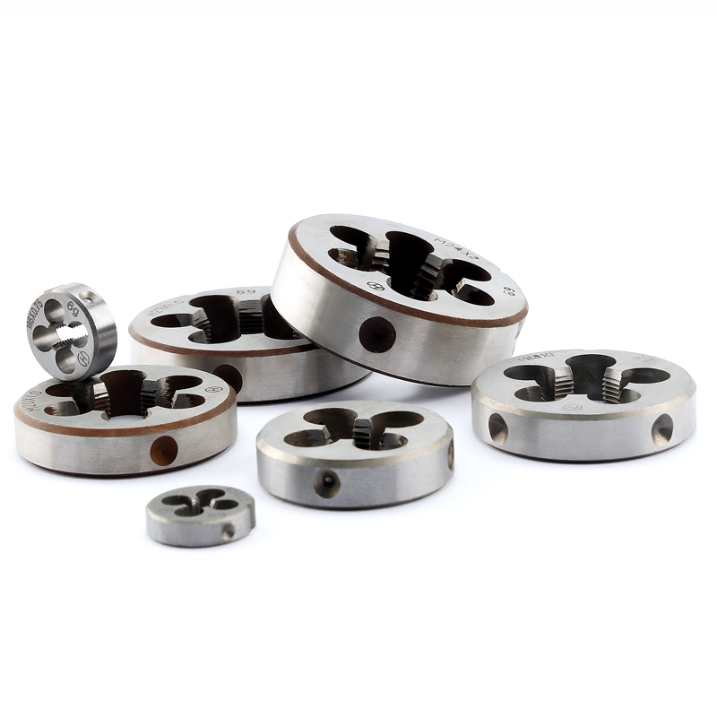 Fine Tooth Die Alloy Steel Round Dies Threading Cutting Tool M3*0.35 M4*0.5 M6*0.75 M8*1 M10*0.75 M12*0.75 M14*1 M24*1 M30*1.5