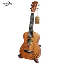 SevenAngel 23″ Ukulele Concert Acoustic Mini guitar Rosewood Fretboard Uke 4 strings Sapele Electric Ukelele Built in Pickup EQ