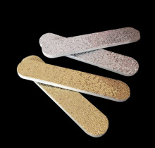 10pcs high quality 90mm silver gold sequin EVA nail files 150 HIGH QUALITY hot sale  Manicure aert WE900