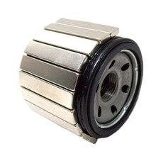 12 шт. магнит фильтра NdFeB Блок 60x10x5 мм неодимовые магниты могут анти-ржавчины для автомобильной фильтрации масла и воды