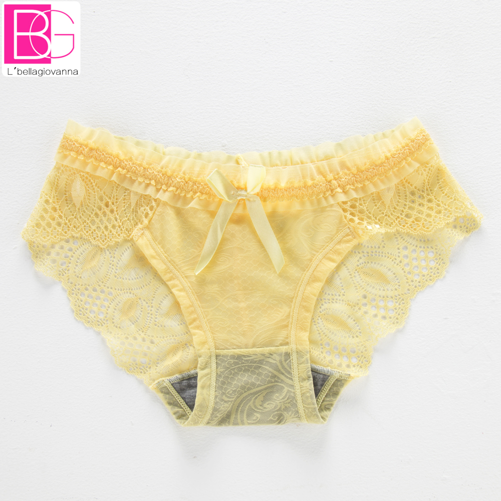 4c3cf8a7c8 Fashion Lolita Ruffles Style Women Lace Briefs Seamless Transparent Female  Panties S M L New Hot Ladies Underwear Intemates
