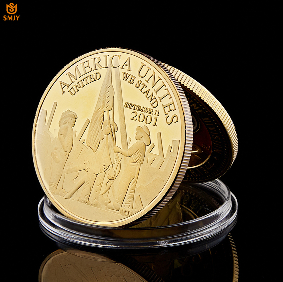 USA Freedom United We Stand 2001.9.11 Remember Attacks 1 World Trade Center Coin