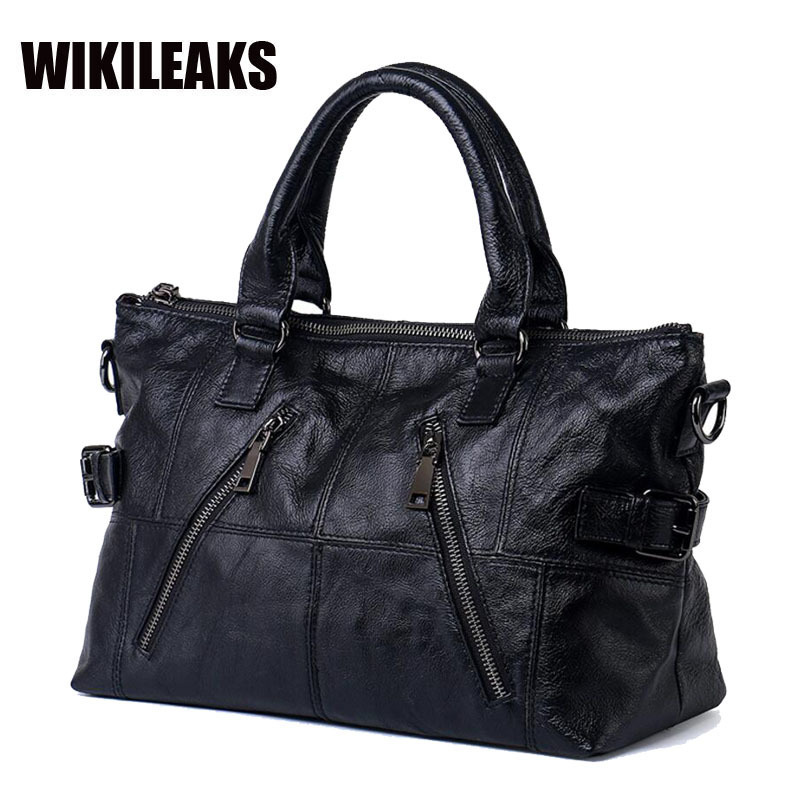 New Fashion Brand Designer Genuine Cow Leather Women's Satchel Handbag Single Crossbody Female Solid Soft Cowhide Totes Bags
