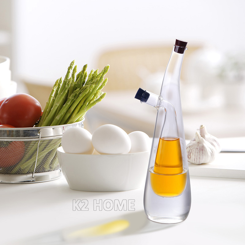 Two In One Oil Vinegar Cruet Kitchen Glass Oil Dispenser Fashion Design  Olive Oil Bottle Kitchen Curet With Stopper Three Shapes In Gravy Boats  From Home ...