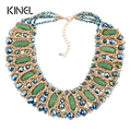 Kinel 2016 Gold Fashion Jewelry Luxury Handmade Turquoise Necklaces For Women Bohemia Jewelry 5 Colors Choose