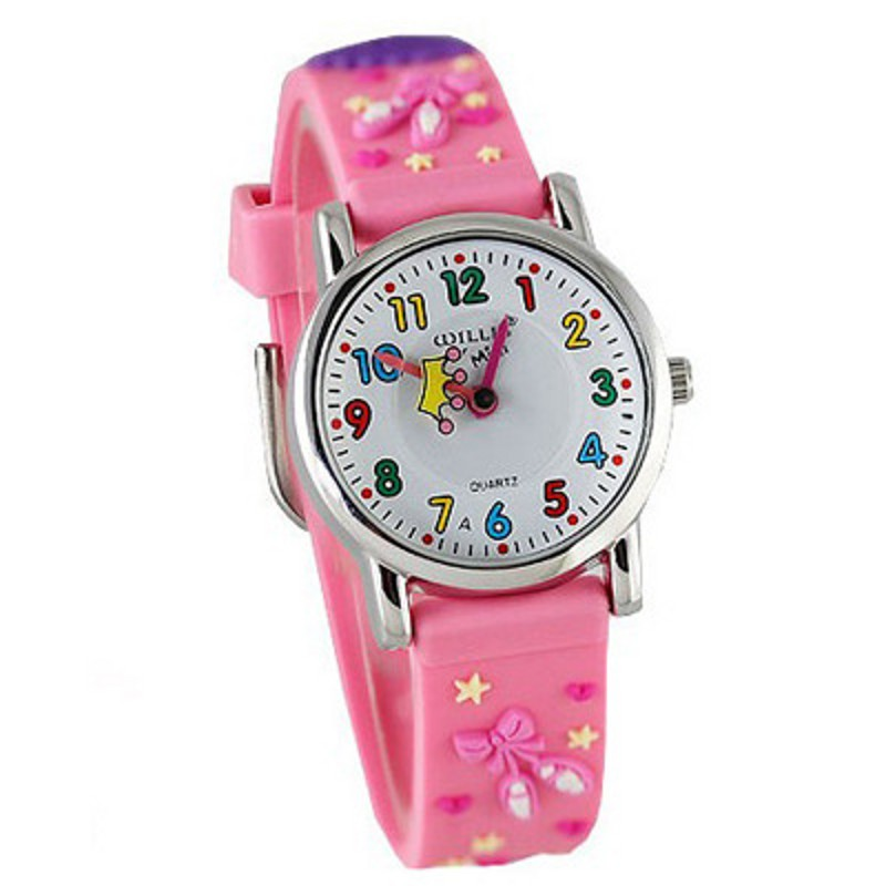 купить 3D Cartoon dress Design Analog Band Little Boys Girls Children Wrist Kids Watches,Waterproof онлайн