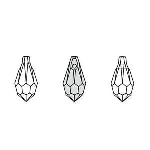(1 шт.) 100% оригинальный Кристалл от Swarovski 6000 каплевидный кулон сделано в Австрии свободные бусины Стразы Сделай Сам Изготовление ювелирных изделий