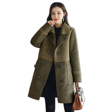 Fake Faux Fur Women Jacket Thick Warm Curly Lamb Wool Coat Autumn winter Jacket Parka Women Lamb Fur Winter Female Outerwear new