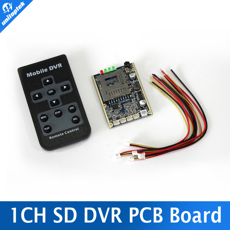 Real time 1CH Mini HD XBOX DVR PCB Board Up D1 30fps Support 32GB SD Card Security Digital For Model Aircraft Video Recorder