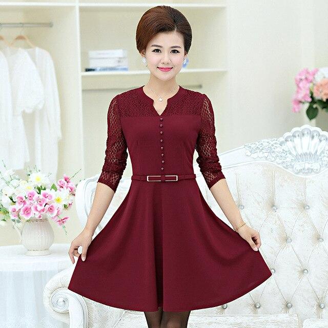 Dresses For Older Women Middle Age Clothing Fashion Big
