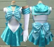 БЕСПЛАТНАЯ ДОСТАВКА синий Сатурн Косплей Sailor Moon Костюм Сейлор Мун косплей Необычные Платья костюм S, M, L, XL, 2XL