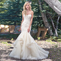 Vintage Lace Mermaid Wedding Dresses Turkey Backless Sweetheart Weeding Wedding Gowns Bridal Bride Dresses vestidos de noiva