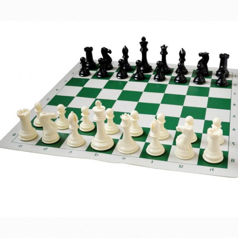 51*51 cm Jeu d'échecs Exquis De Luxe Extra Large Pièces de PVC Échiquier Standard Jeu D'échecs Spéciales Roi Haute 10.6 cm
