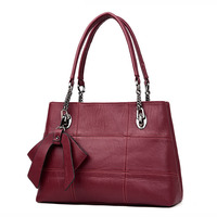 2018 Women Bags Big Chains Cowhide Bags Handbags Women Famous Brands Luxury Designer Genuine Leather Top Handle Bags sac a main