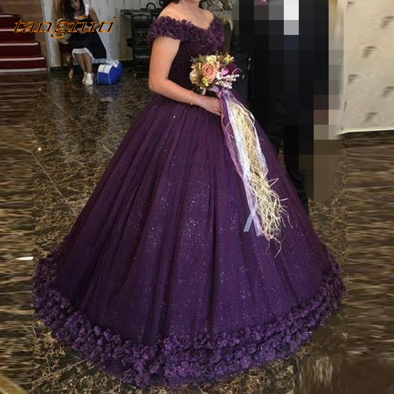 Purple   Evening     Dresses   Long Ball Gown Tulle Saudi Arabia   Evening   Party Prom   Dress   abendkleider   Evening   Gown vestidos largos