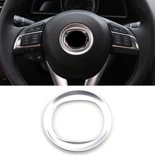 Подходит для Mazda 6 Atenza M6 Gj внутренняя хромированная панель рулевого колеса внутренняя накладка значок гарнир формовочное кольцо обод