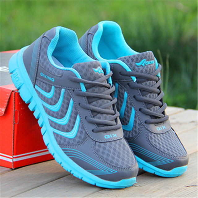Женщины повседневная обувь qixing 2017 новая мода холст обувь на шнуровке 35-42 размер