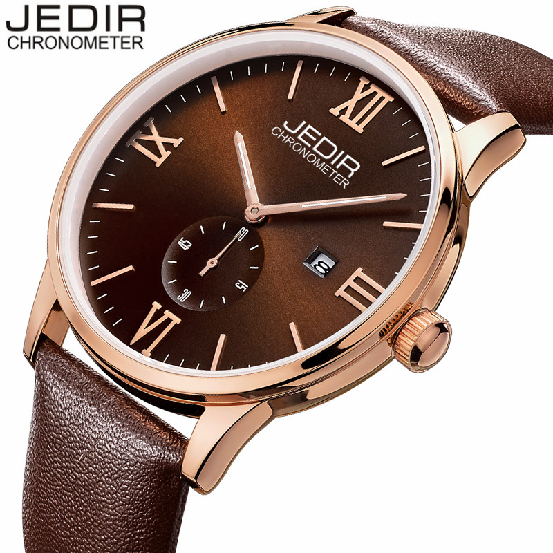 Mens Watches Top Brand Luxury JEDIR Military Sport Quartz Watch Men Luminous Clock Male Leather Wristwatch relogio masculino hongc watch men quartz mens watches top brand luxury casual sports wristwatch leather strap male clock men relogio masculino