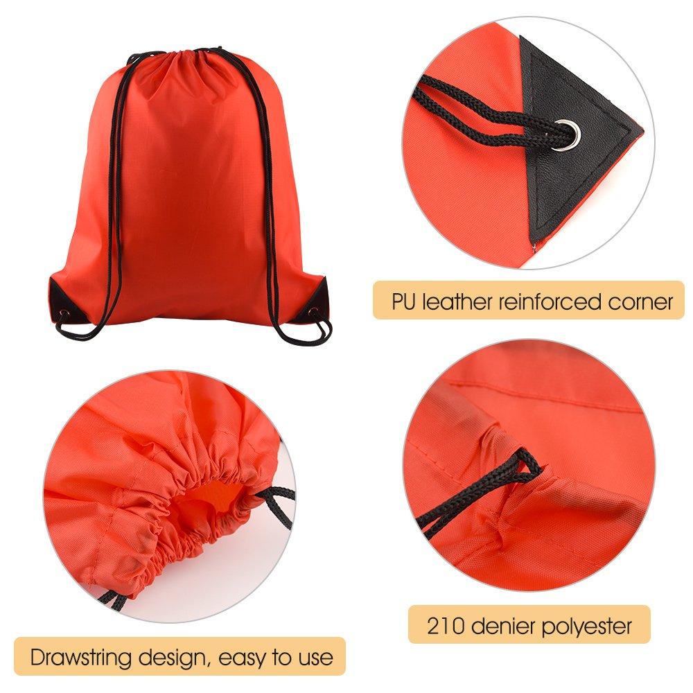 Wild Animals Orange Drawstring Backpack Sports Athletic Gym Cinch Sack String Storage Bags for Hiking Travel Beach
