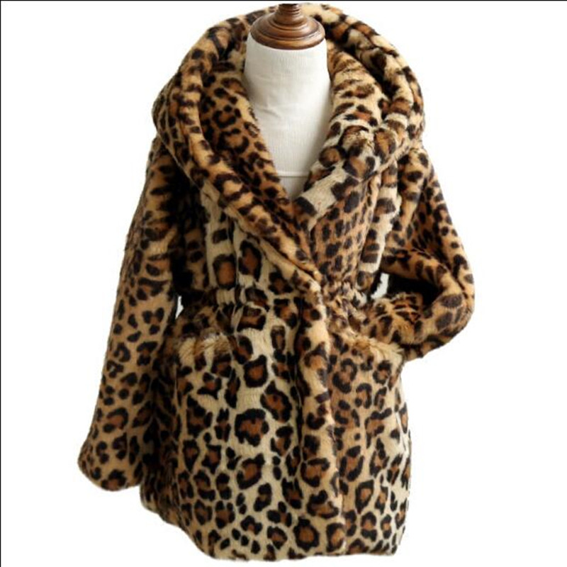 a98d7b41d Furry Baby Girl Jacket Children Faux Fur Coat Winter Thicken Warm ...