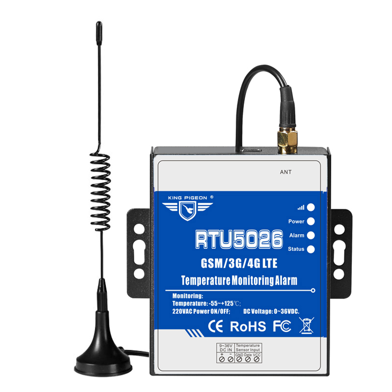 GSM Telemetry Temperature Monitoring Alarm Measuring -55 To 125 Celsius Degree Support Remote Reset Reboot By SMS RTU5026